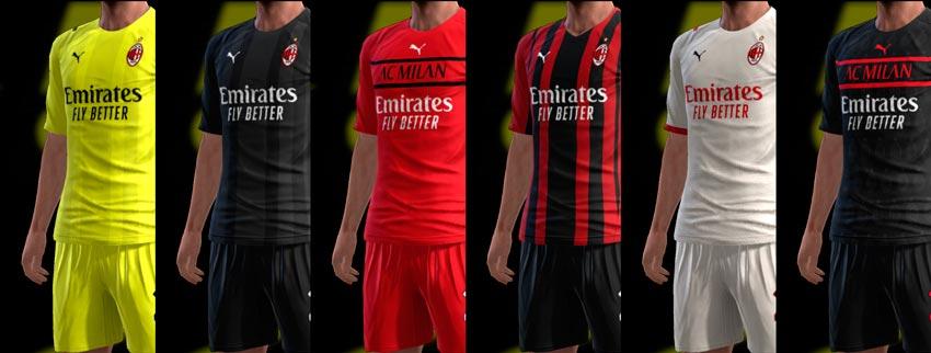 AC Milan 21-22 Kits For PES 2013