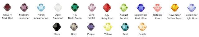 Swarovski Crystal Color Options