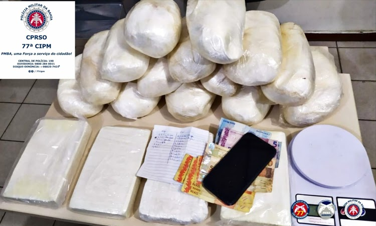 Polícia Militar apreende 18 Kg de cocaína em Vitória da Conquista