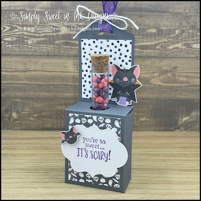 Make this scary sweet candy tube holder with the Frightfully Cute bundle!
