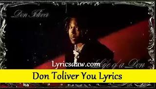 Don Toliver You Lyrics