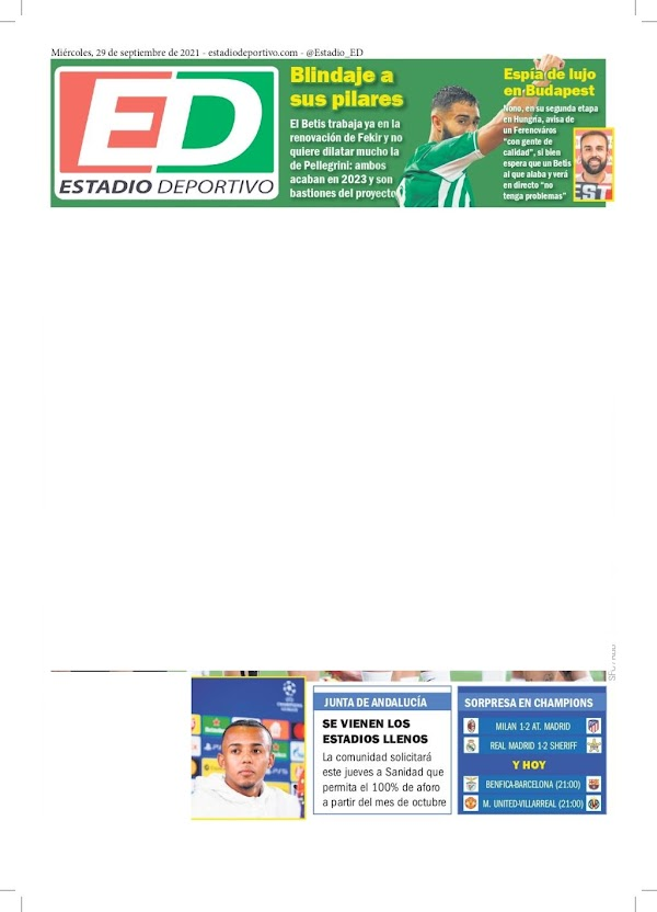 "Betis, Estadio Deportivo: ""Blindaje a sus pilares"""