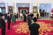 Presiden Jokowi Lantik 17 Duta Besar RI untuk Negara Sahabat