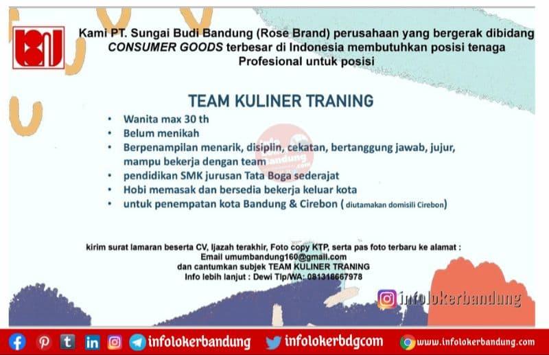 Lowongan Kerja PT. Sungai Budi Bandung (Rose Brand) Oktober 2021