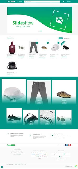 Free sales blogspot template TokoWhatsApp