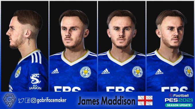 James Maddison Face For eFootball PES 2021