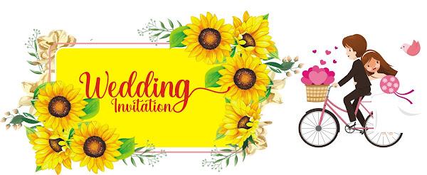 Bảng tên hoa hướng dương in thiệp cưới CDR