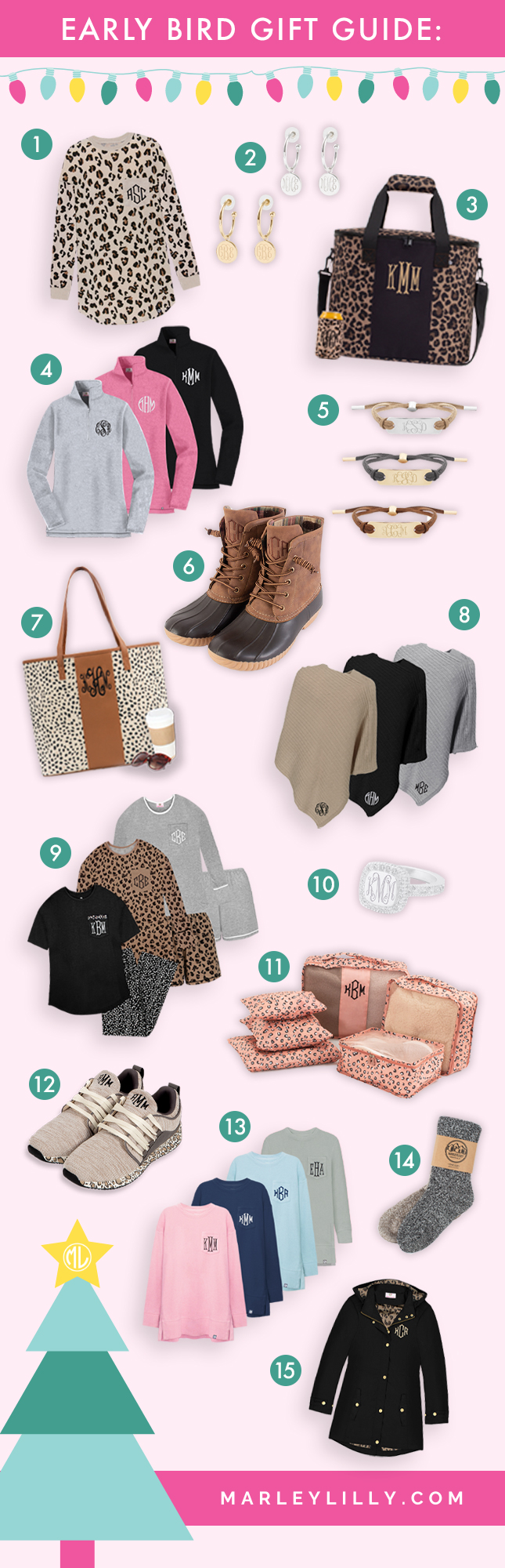 Early Bird Gift Guide from Marleylilly.com