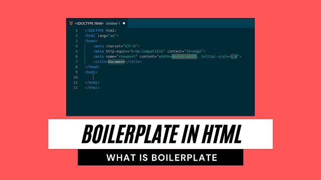 html boilerplate | html boilerplate code explanation - codewithrandom