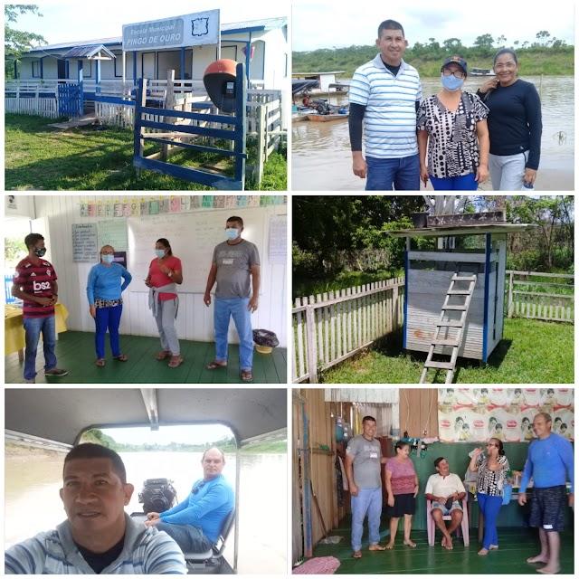 Vereador Leildo visita Escolas da Rede Municipal no Alto Rio Envira