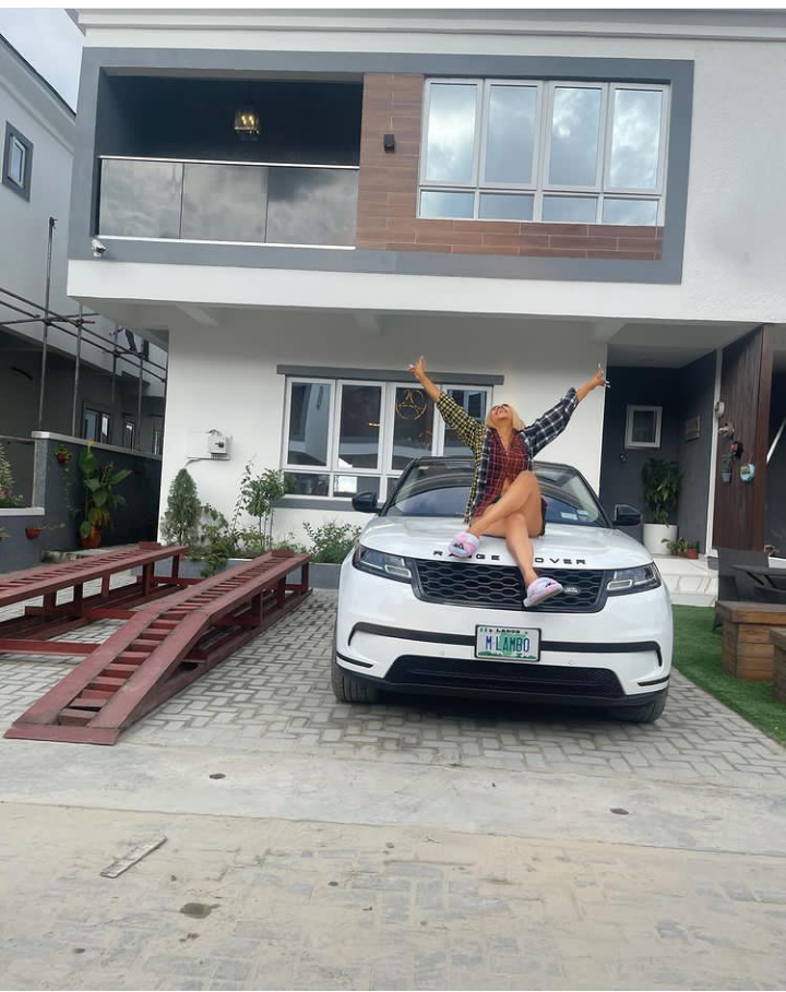 Mercy Eke buys herself a mansion and brand new car as birthday present (See pictures)