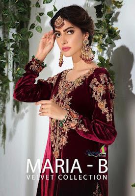 Velvet Suits wholesale | Saniya Trendz maria b vol 1