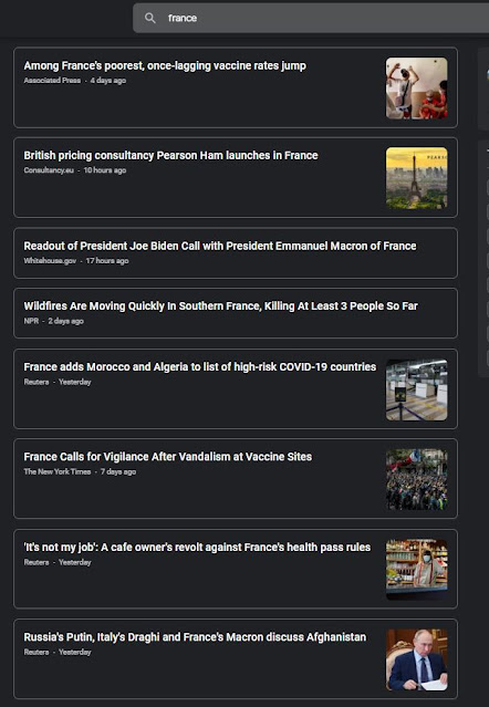 Google News France Protest Not Found