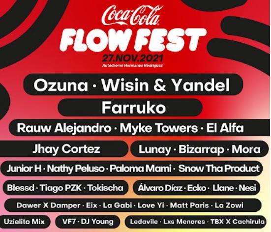 Coca Cola Flow Fest 2021 27 de Noviembre