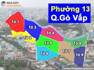 Bản đồ quy hoạch lộ giới hẻm phường 13 quận Gò Vấp HCM