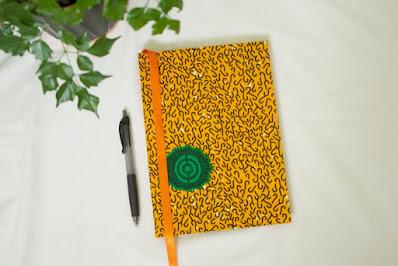 Yellow Ankara Notebooks Ankara Book Covers