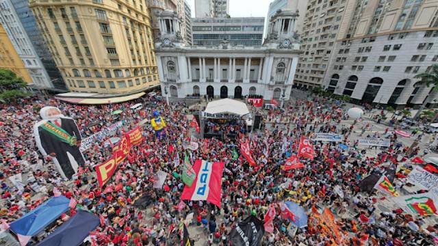 Manifestações do fora Bolsonaro no Rio de Janeiro.