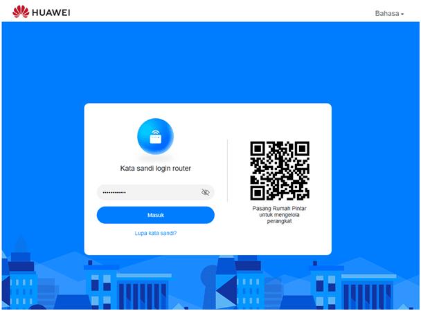 menu login Huawei b312