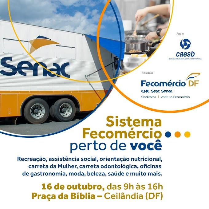 Sistema Fecomércio-DF levará serviços gratuitos para população da Ceilândia neste sábado (16)