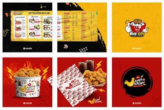 Ide template logo keren fast food kartun - kanalmu