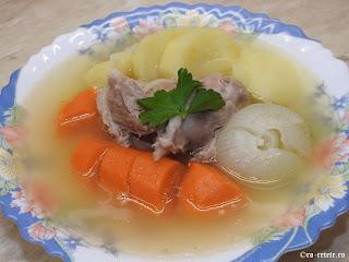 Supa de rasol de porc cu legume reteta mancare de casa cu carne taitei retete supe dietetice,