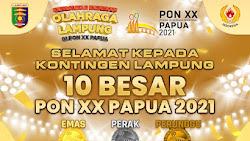 Lampung 10 Besar PON XX Papua 2021