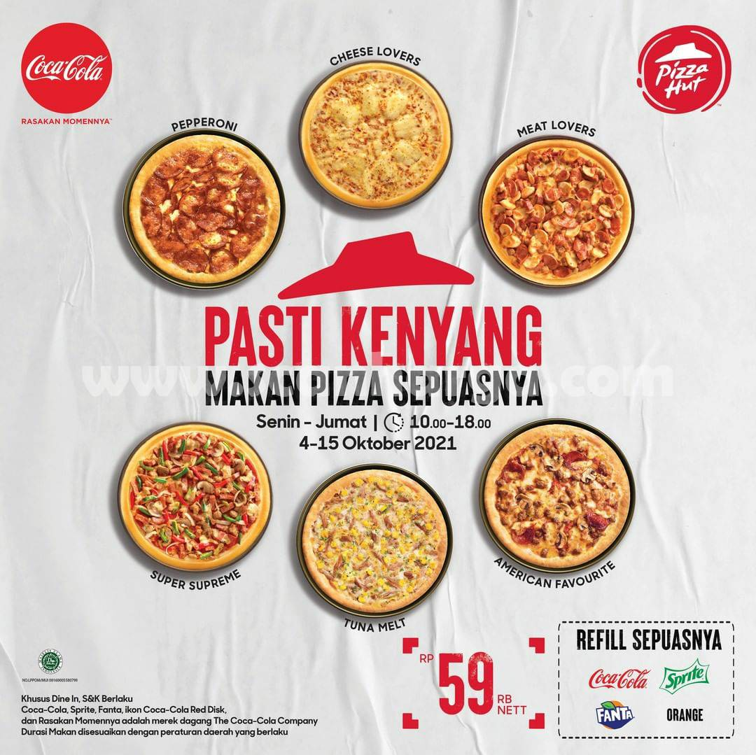 Promo Pizza Hut All You Can Eat Bisa Makan Pizza Sepuasnya Cuma Rp. 59.000 Aja