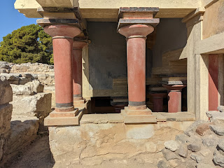 Detail from the Minoan Palace of Knossos.