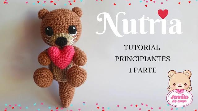 APRENDE A TEJER GRATIS Nutria Amigurumi a Crochet