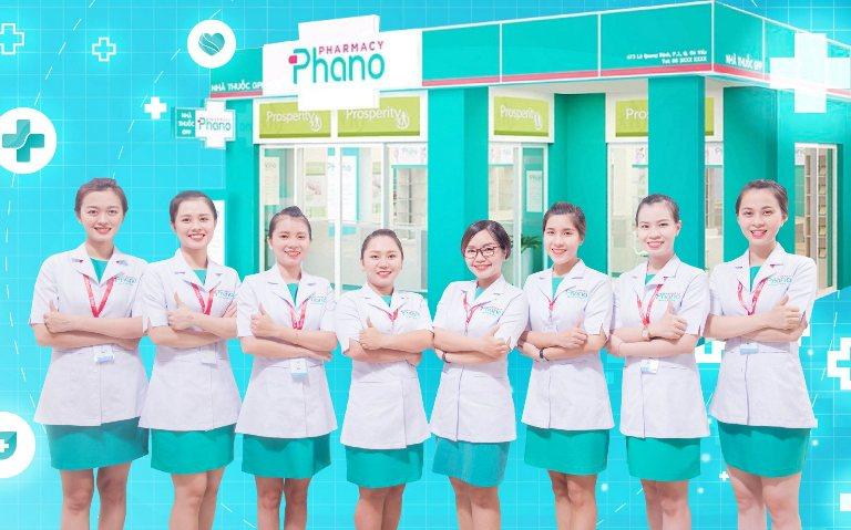 Mẫu đồng phục nhân viên thiết kế chuyên nghiệp tại Phano Pharmacy