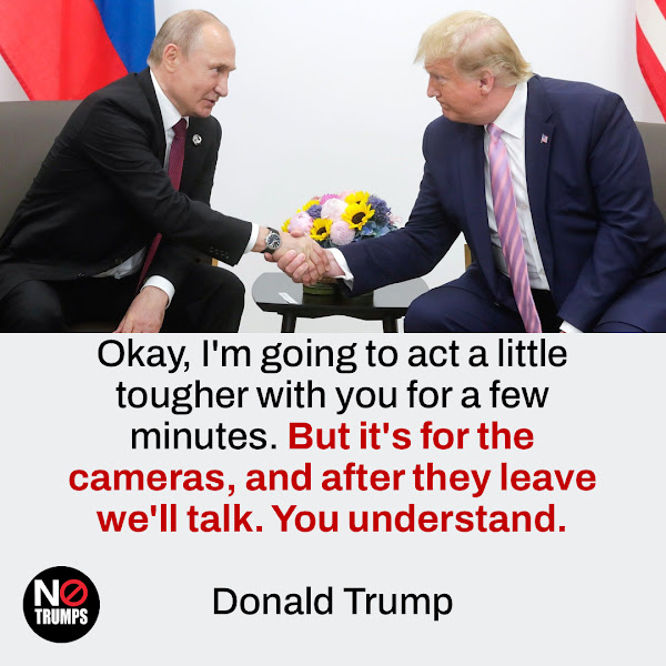 Okay, I'm going to act a little tougher with you for a few minutes. But it's for the cameras, and after they leave we'll talk. You understand. — Donald Trump