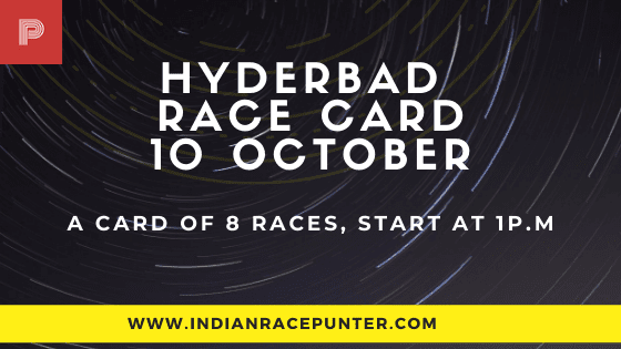 Hyderabad Race Card 10 October