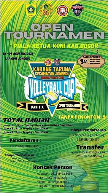 Open Tournament Piala Ketua KONI Kabupaten Bogor