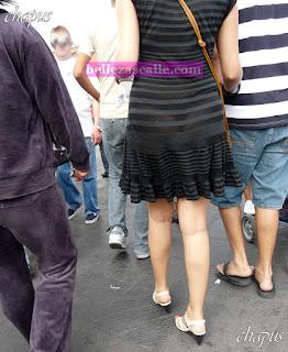 Chica vestido transparente