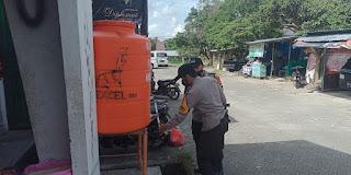 Tiap Hari Pasar Maroangin Personel Polsek Maiwa Laksanakan Operasi Yustisi