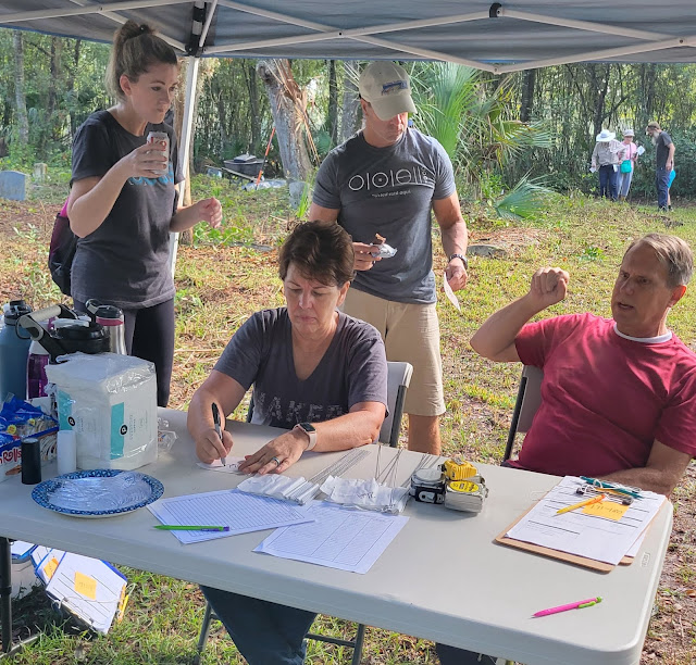 Kim and Mike Jenkins in charge of the Pinehurst mapping project