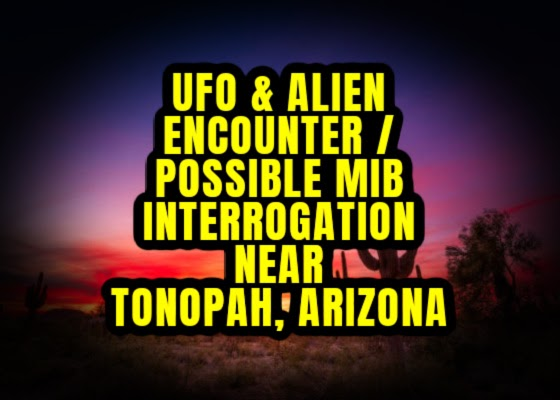 UFO & Alien Encounter / Possible MIB Interrogation Near Tonopah, Arizona