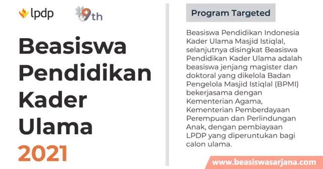 Beasiswa Pendidikan Kader Ulama LPDP