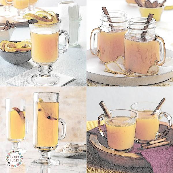 Hot Cider 🍎 with Orange 🍊 Twists, Hot Spiced Cider 🍎 , Mulled Cider 🍎 , Spiced Hot Apple 🍎 Cider