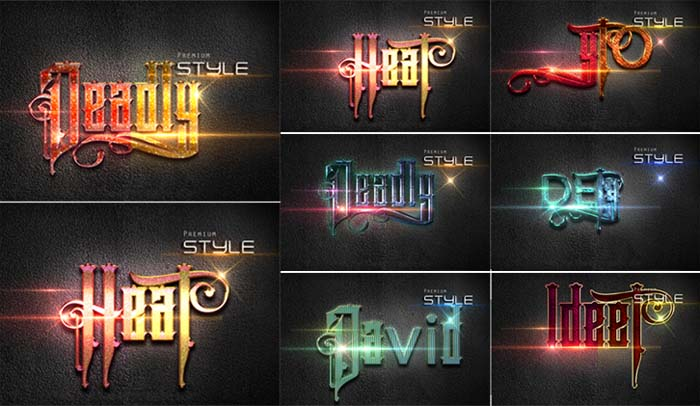 10 3D Text Effect For Photoshop