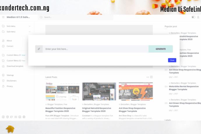 Download Original Median UI v1.4 + Median Ui SafeLink Blogger Template