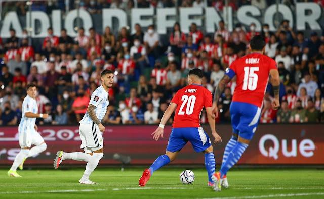 ملخص مباراة الارجنتين وباراجواي في تصفيات كأس العالم