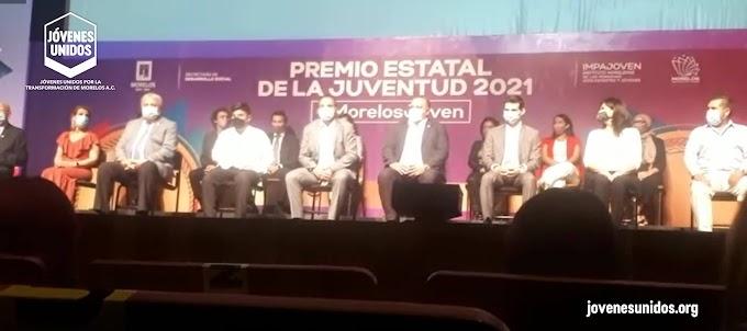 """Boletín de prensa 0005: Asiste """"Jóvenes Unidos"""" a la ceremonia de entrega del Premio Estatal de la Juventud 2021"""