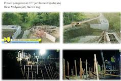 Dinas PUPR karawang Lakukan Pekerjan Pembangunan Jembatan Cipatujang