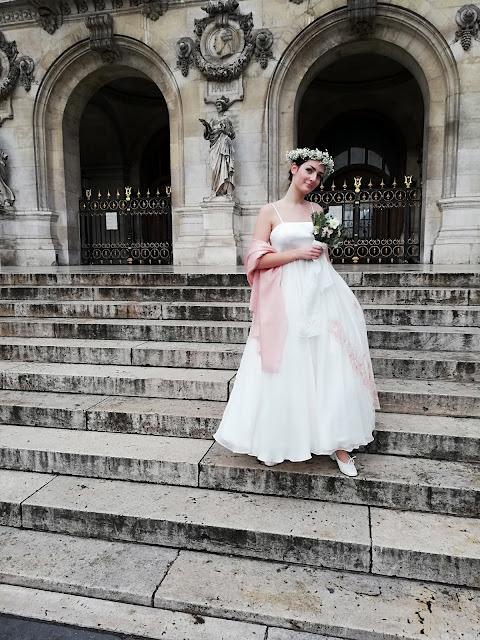 Robe de mariée en mousseline D'ors et de Soie