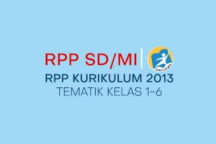 RPP K13 SD/MI Revisi 2018 Terbaru (Tema dan Sub Tema) Kelas 1-6 Semester 1&2