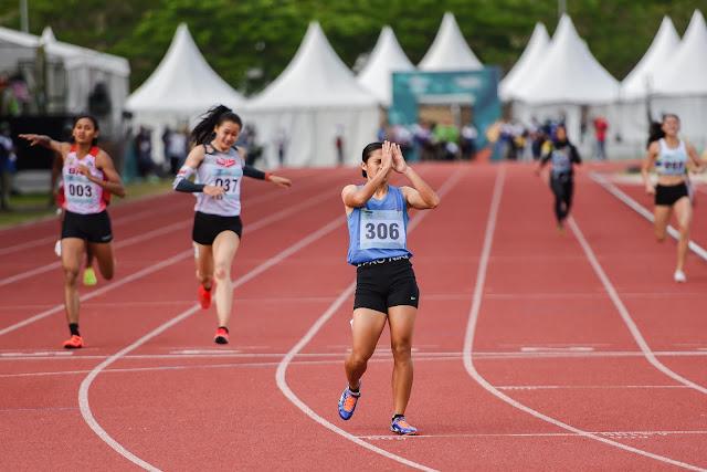 Atlet Sumsel, Sri Mayasari Pecakan Rekor Nasional di Nomor Lari 400 Meter Putri PON XX.lelemuku.com.jpg
