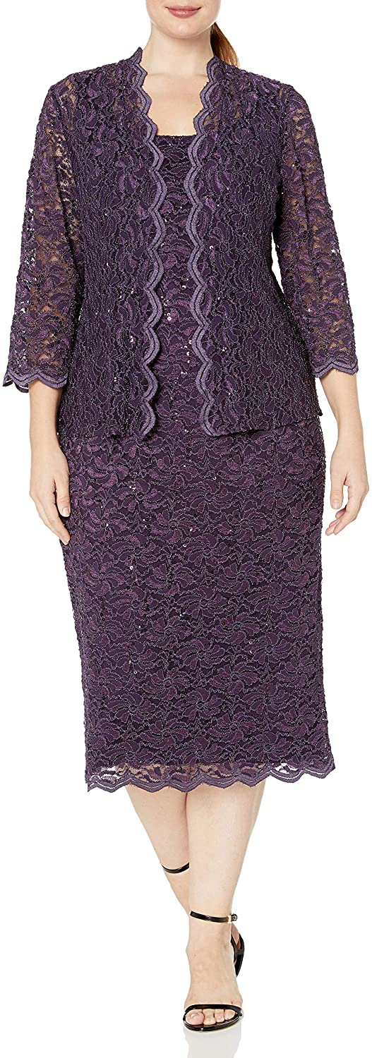 Eggplant - Knee Length Mother of the Bride Dresses