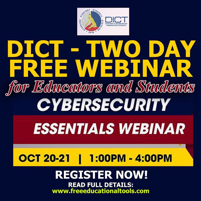 2-DAY FREE WEBINAR   CYBER SECURITY ESSENTIALS FOR EDUCATORS AND STUDENTS   OCTOBER 20-21   REGISTER NOW!