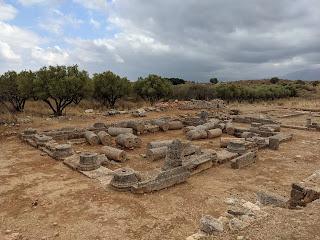 Aptera roman house ruins.